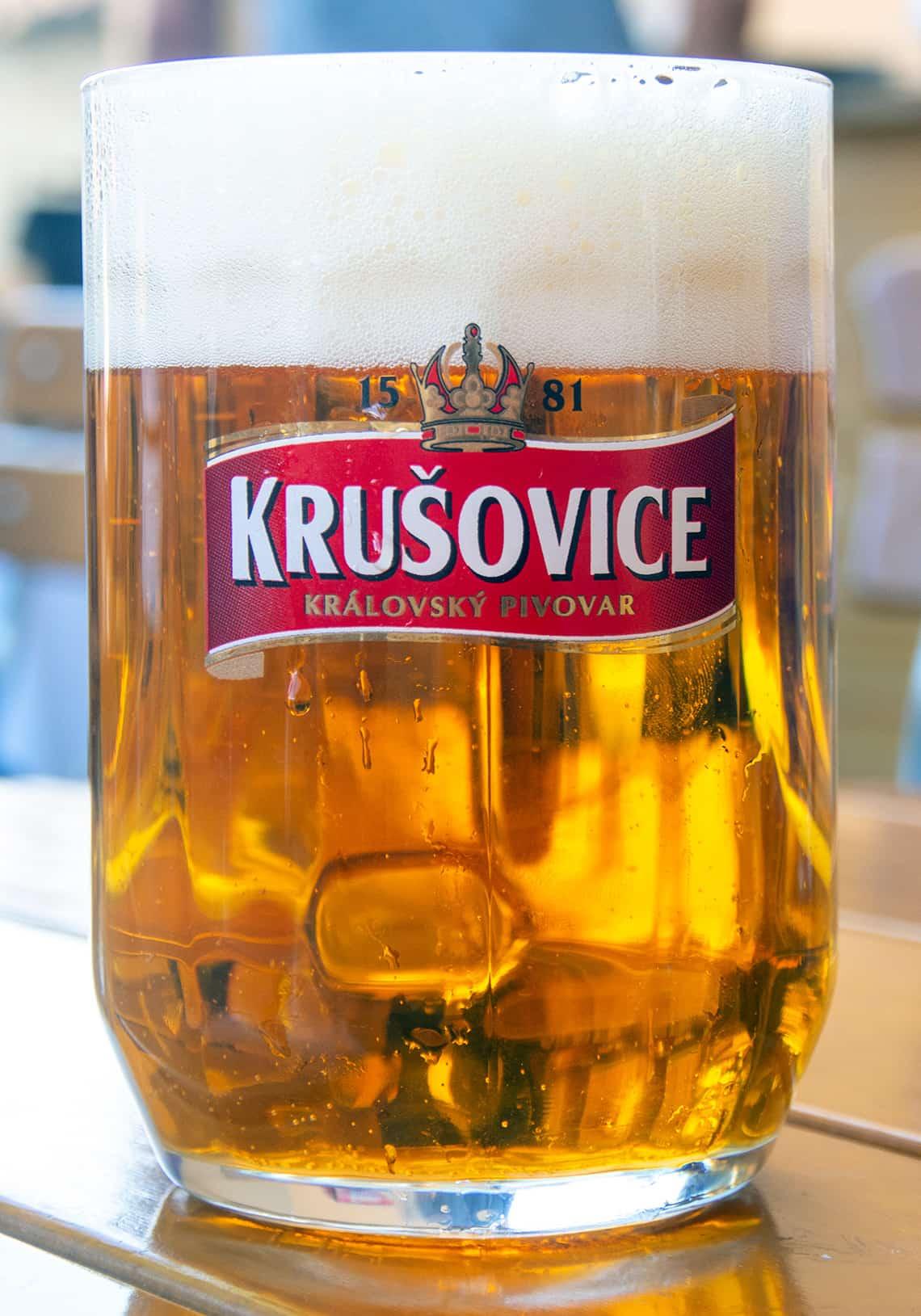 Biertje in Praag (Tsjechië)
