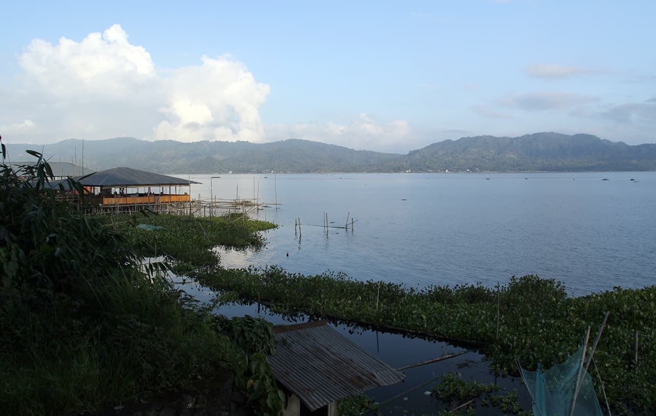 Lake Tondano in Sulawesi