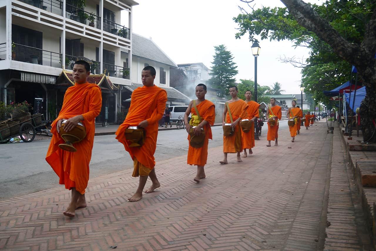 Lokaal straatbeeld in Laos