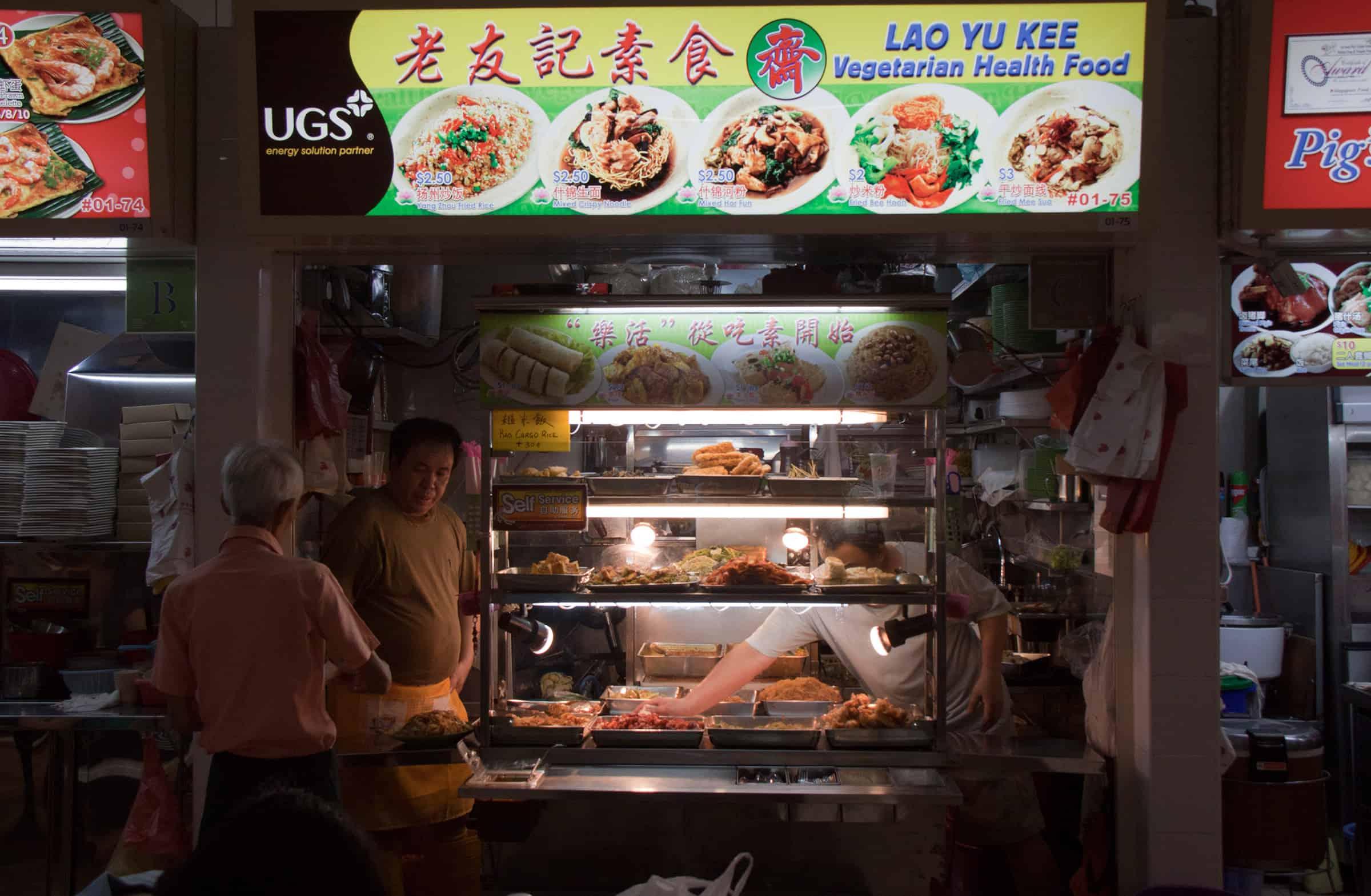 Heerlijk eten in Singapore