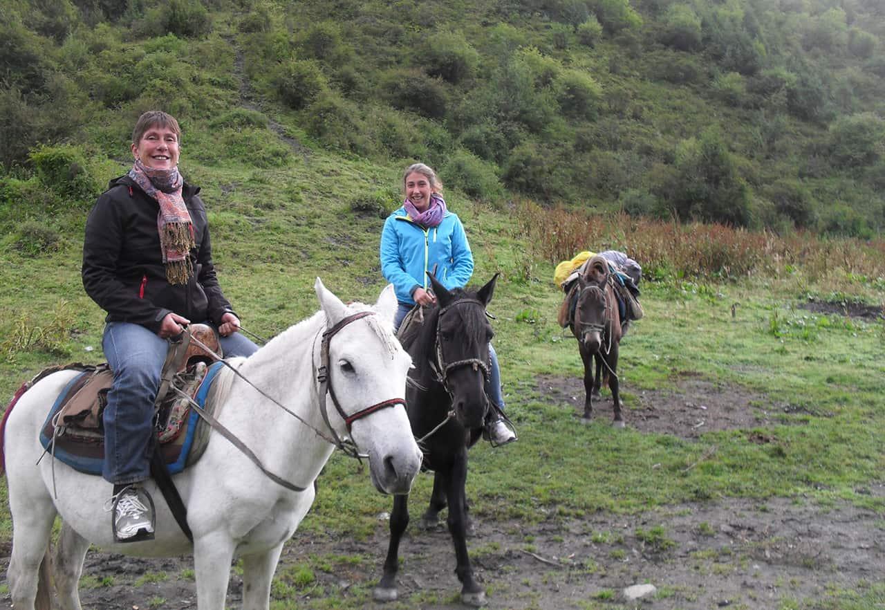 Te paard naar Ice Mountain