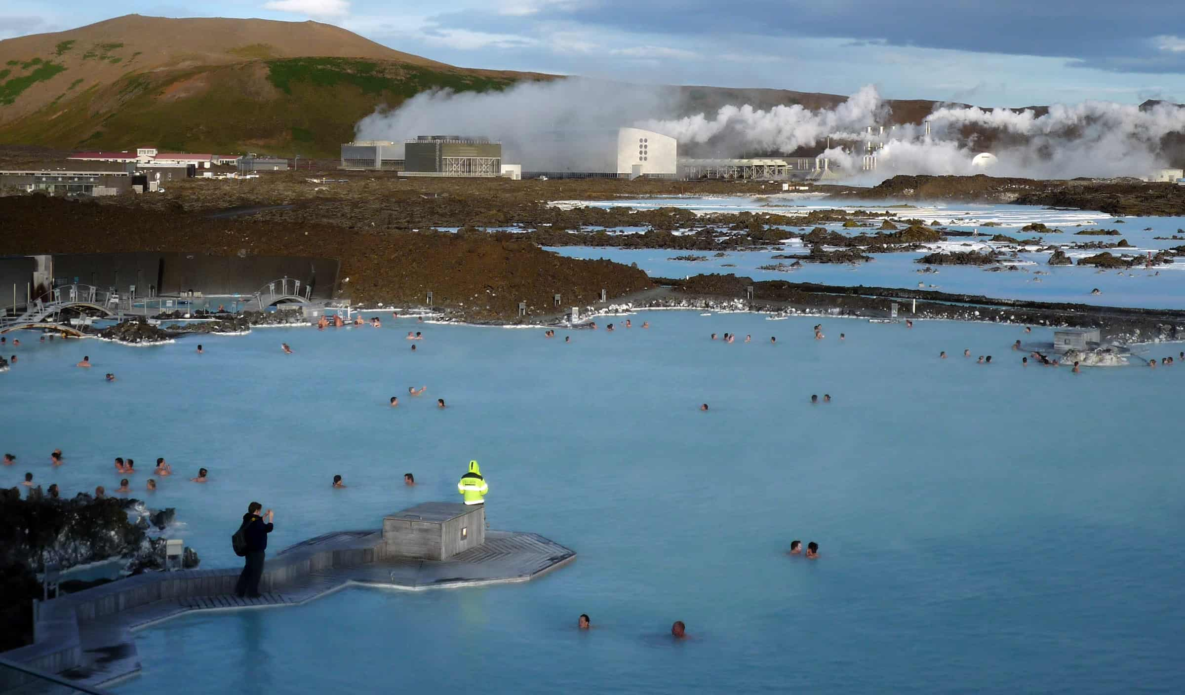 Blue Lagoon geothermaal bad in IJsland