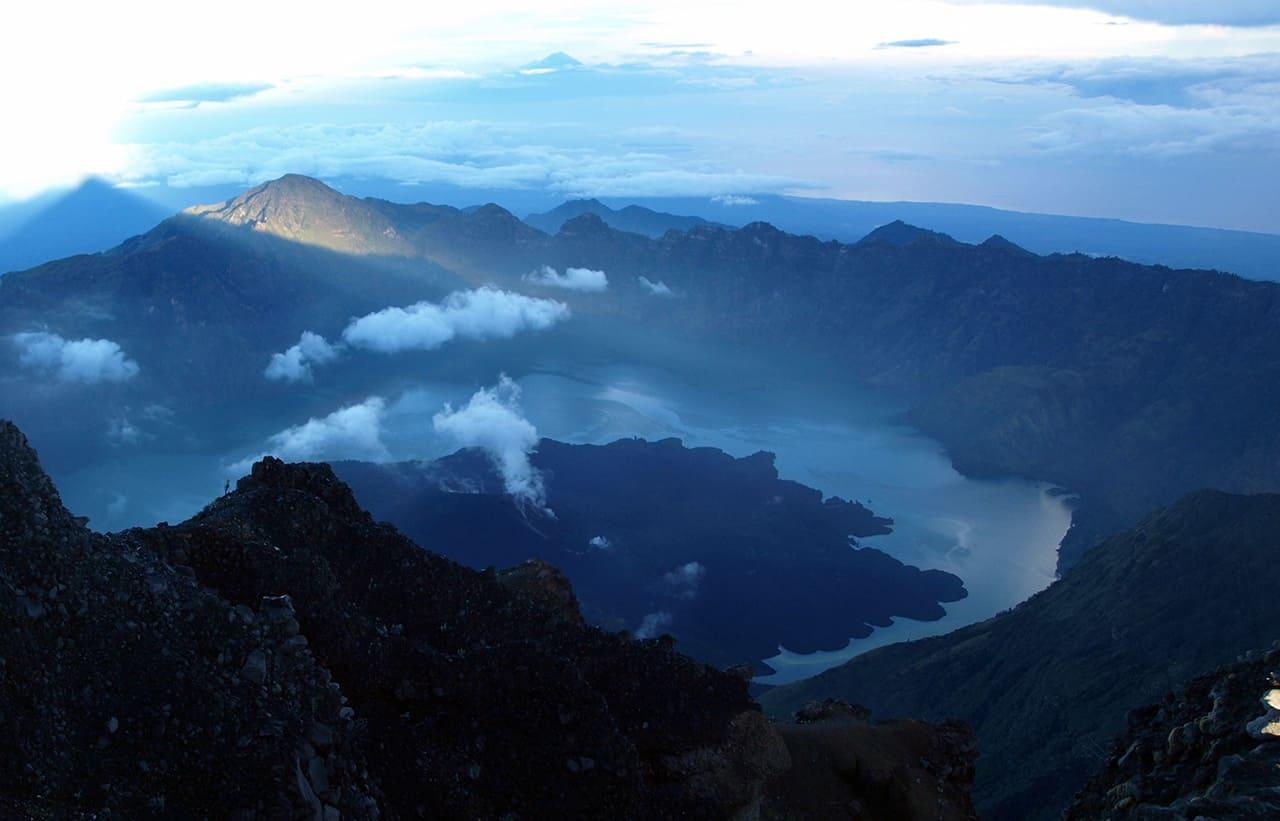 Rinjani vulkaan in Lombok