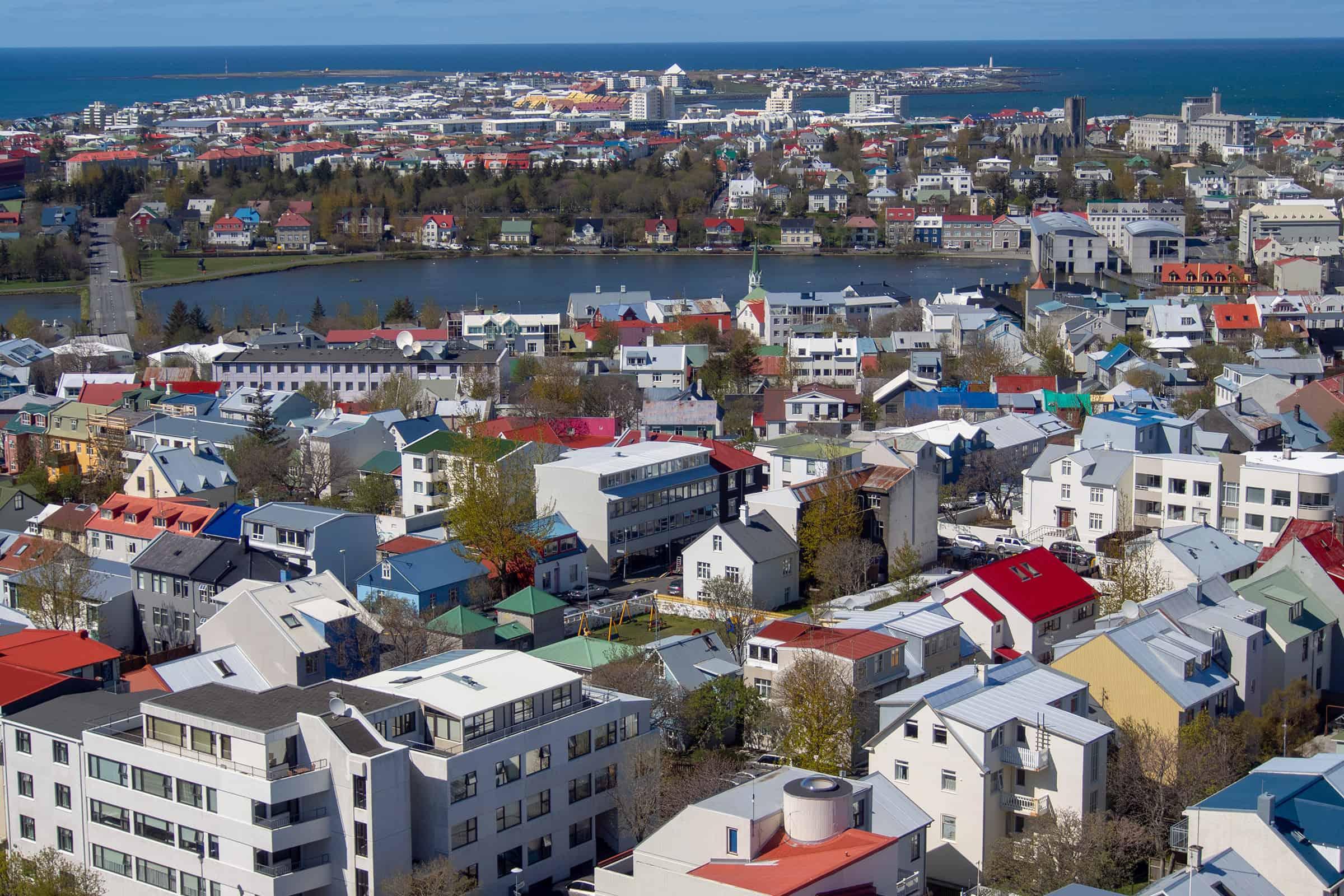 De hoofdstad van IJsland