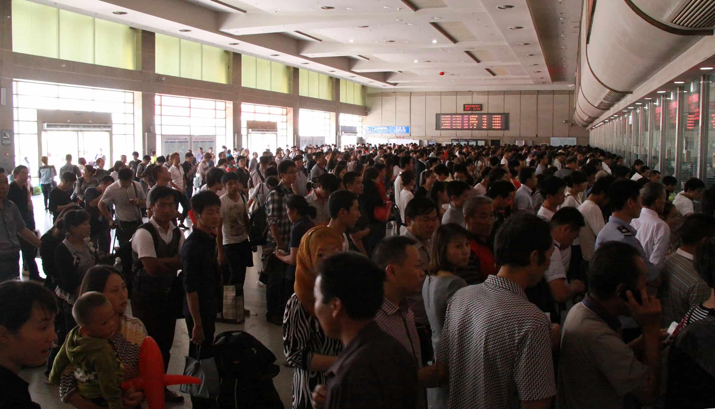 Trein van Hangzhou naar Shanghai