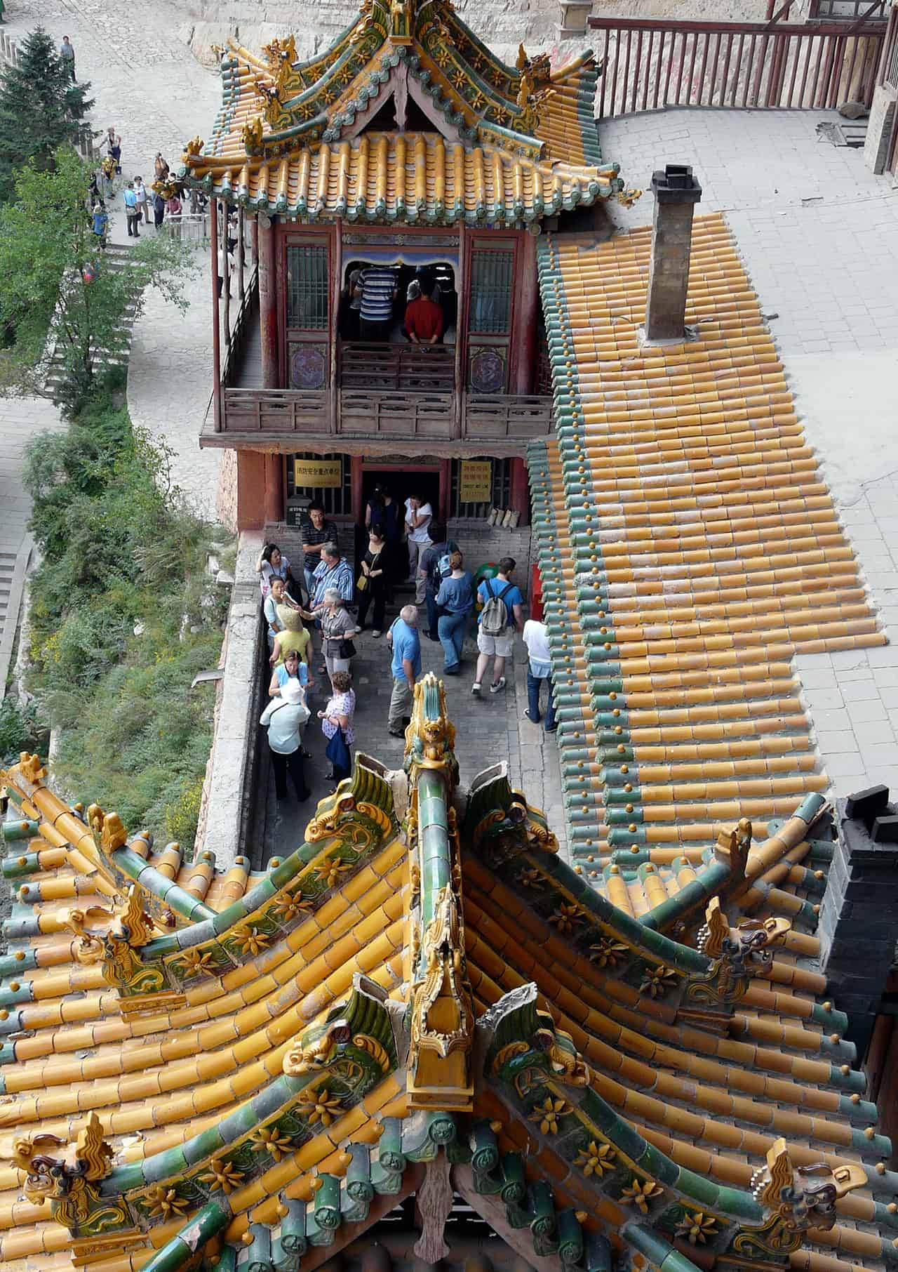 The Hanging Monastery (Hangende Klooster) bij Datong