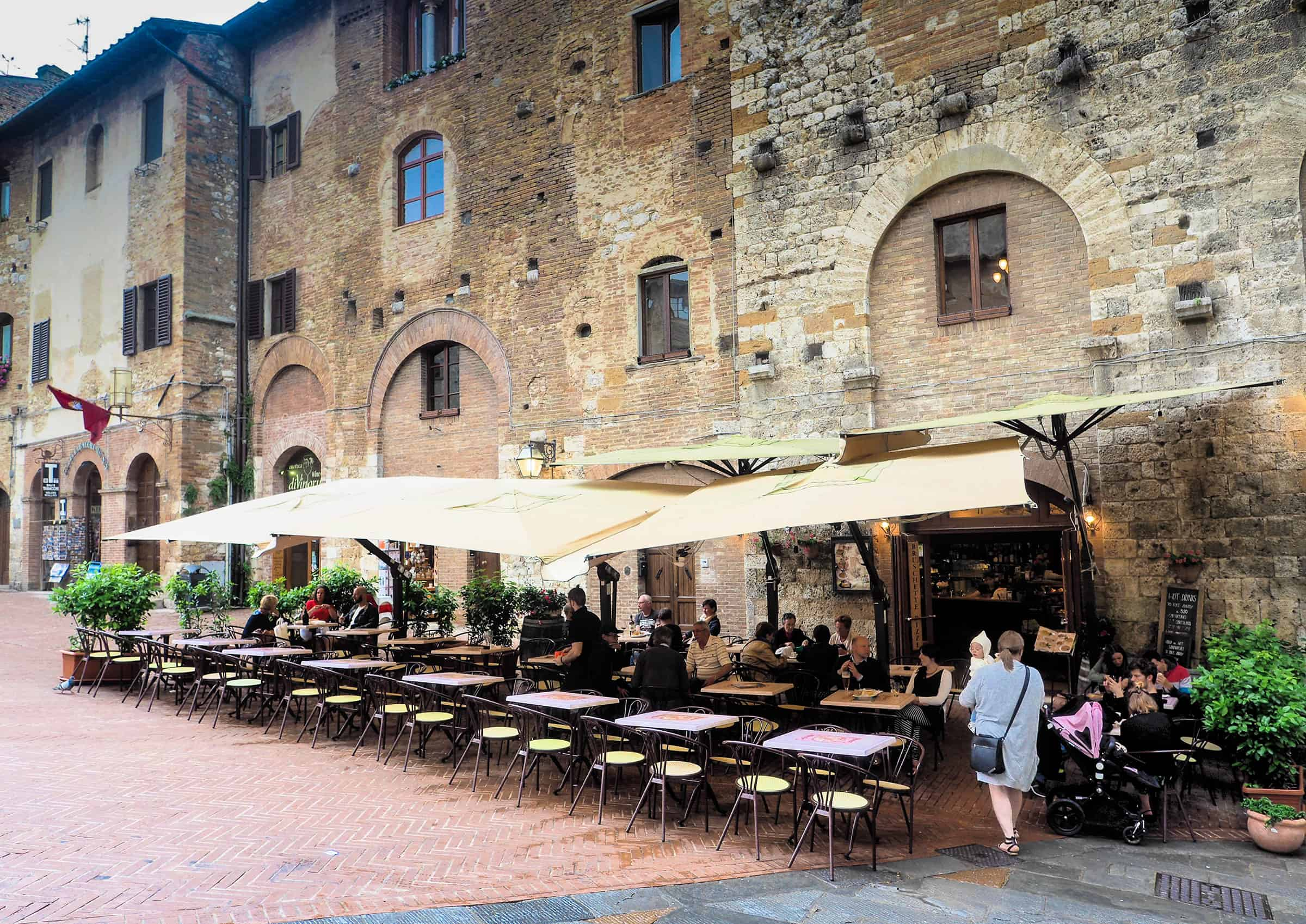 Het centrum van San Gimignano