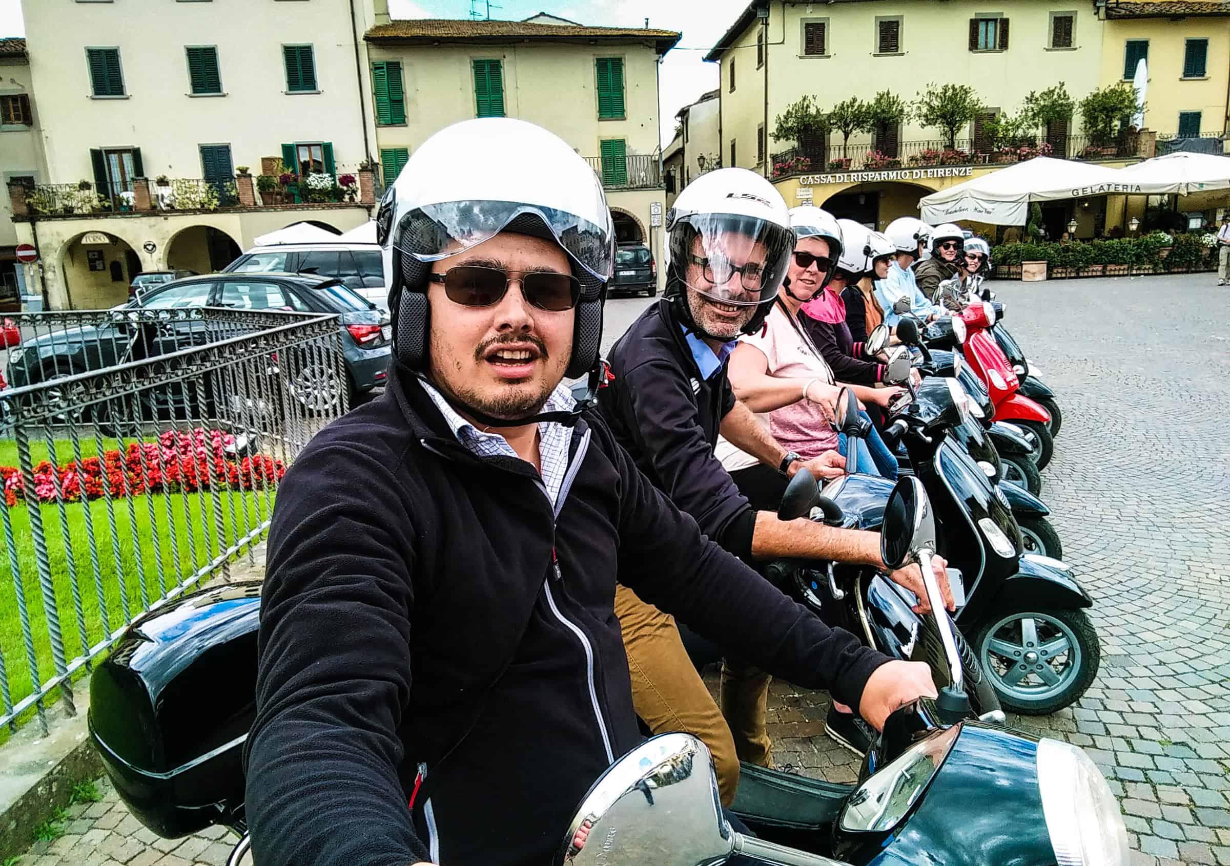 Toscane op de brommer