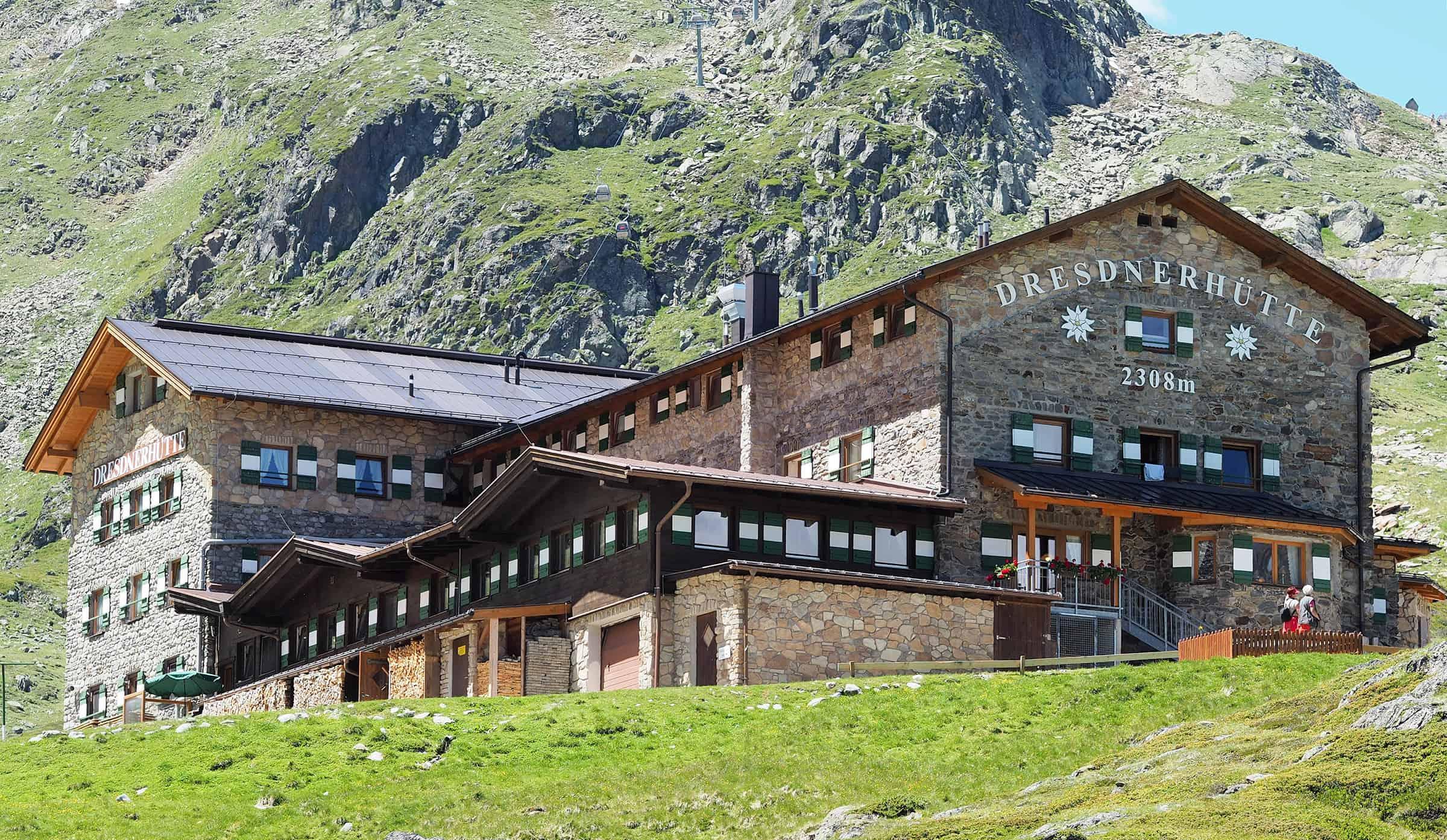 Dresdnerhutte op de Stubai Gletsjer