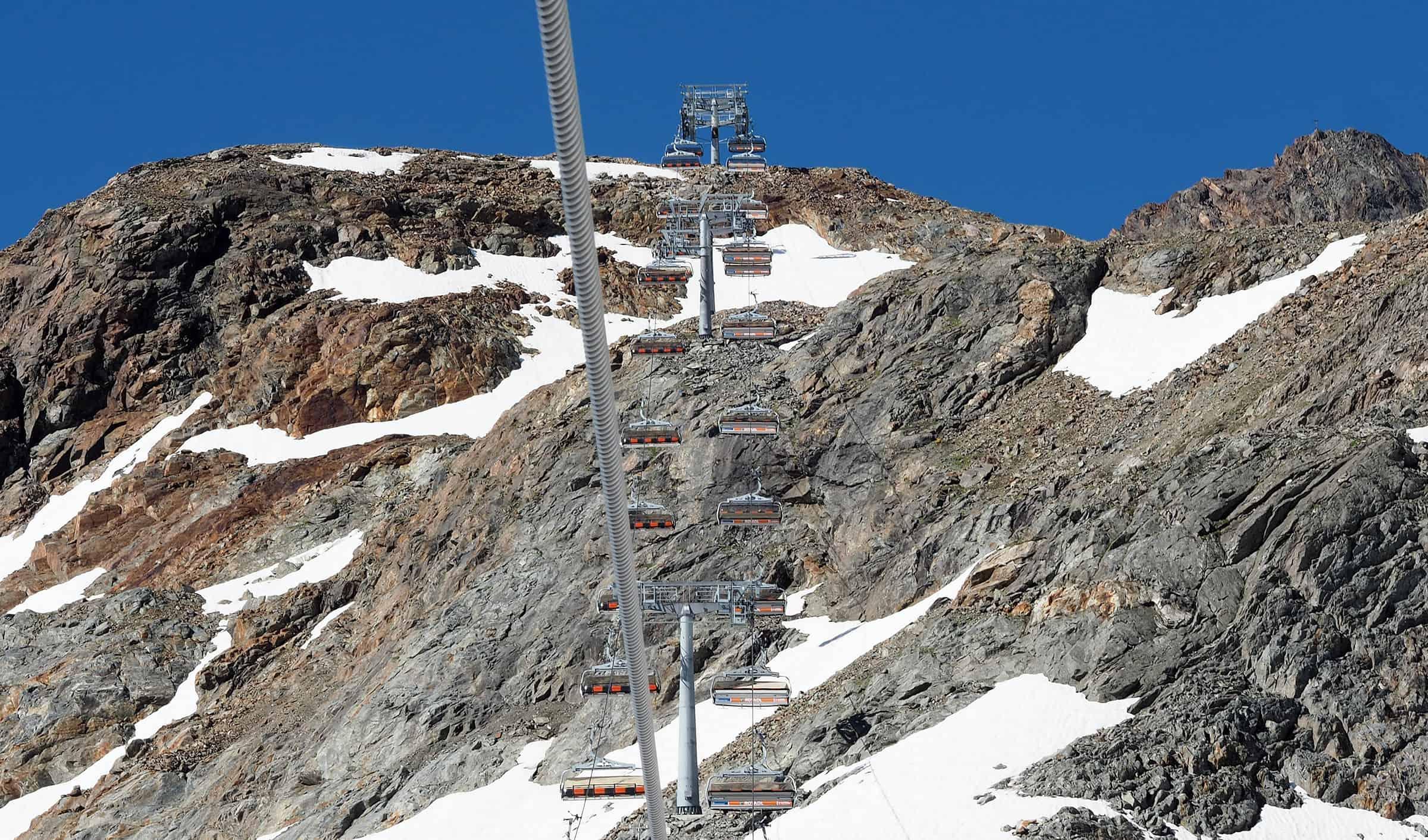 Skilift op de Stubai Gletsjer