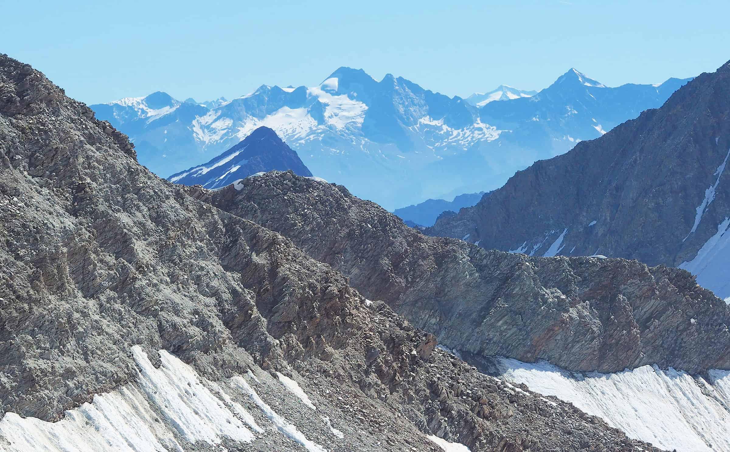 Uitzicht vanaf de gletsjer