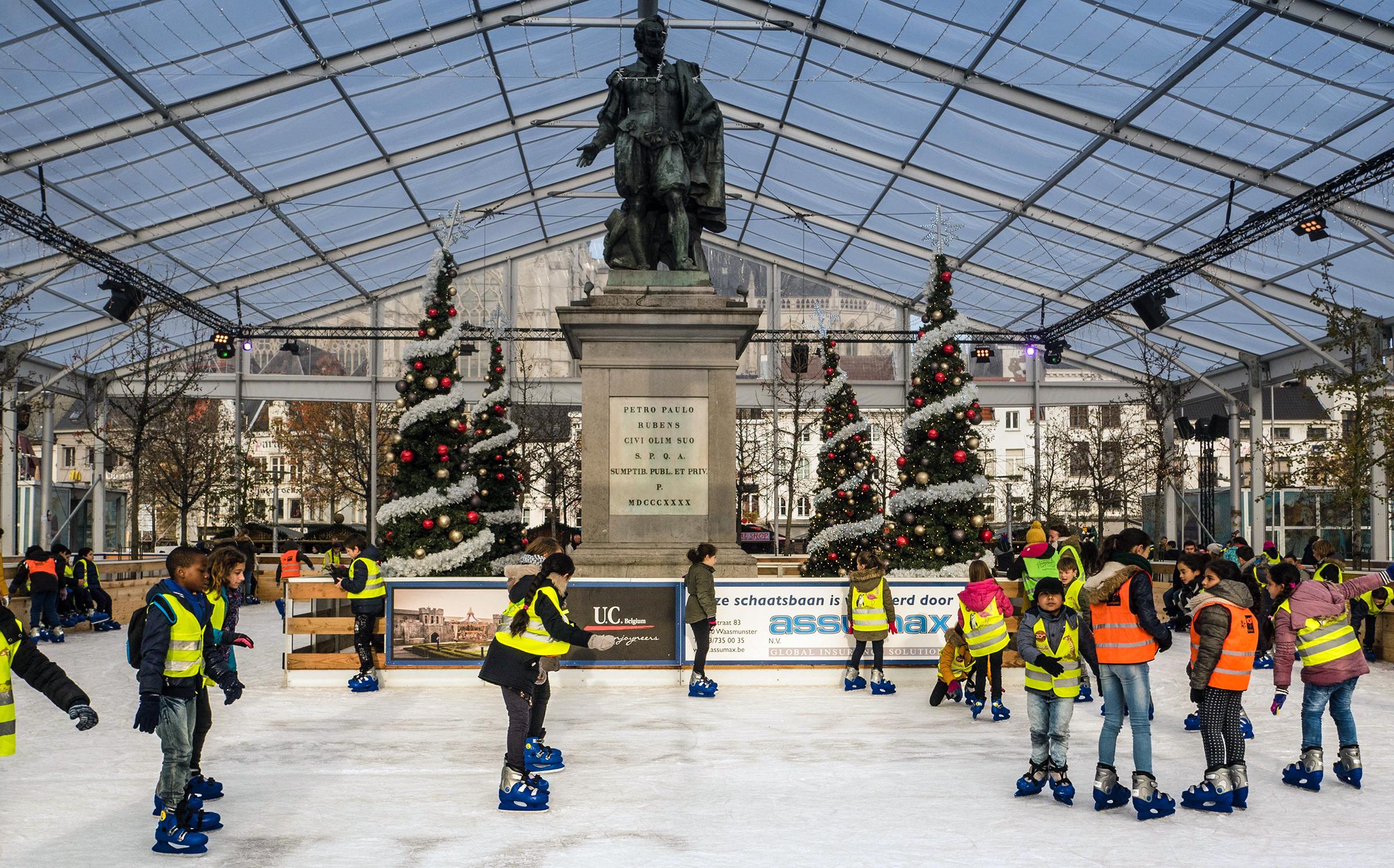 IJsbaan Winter in Antwerpen