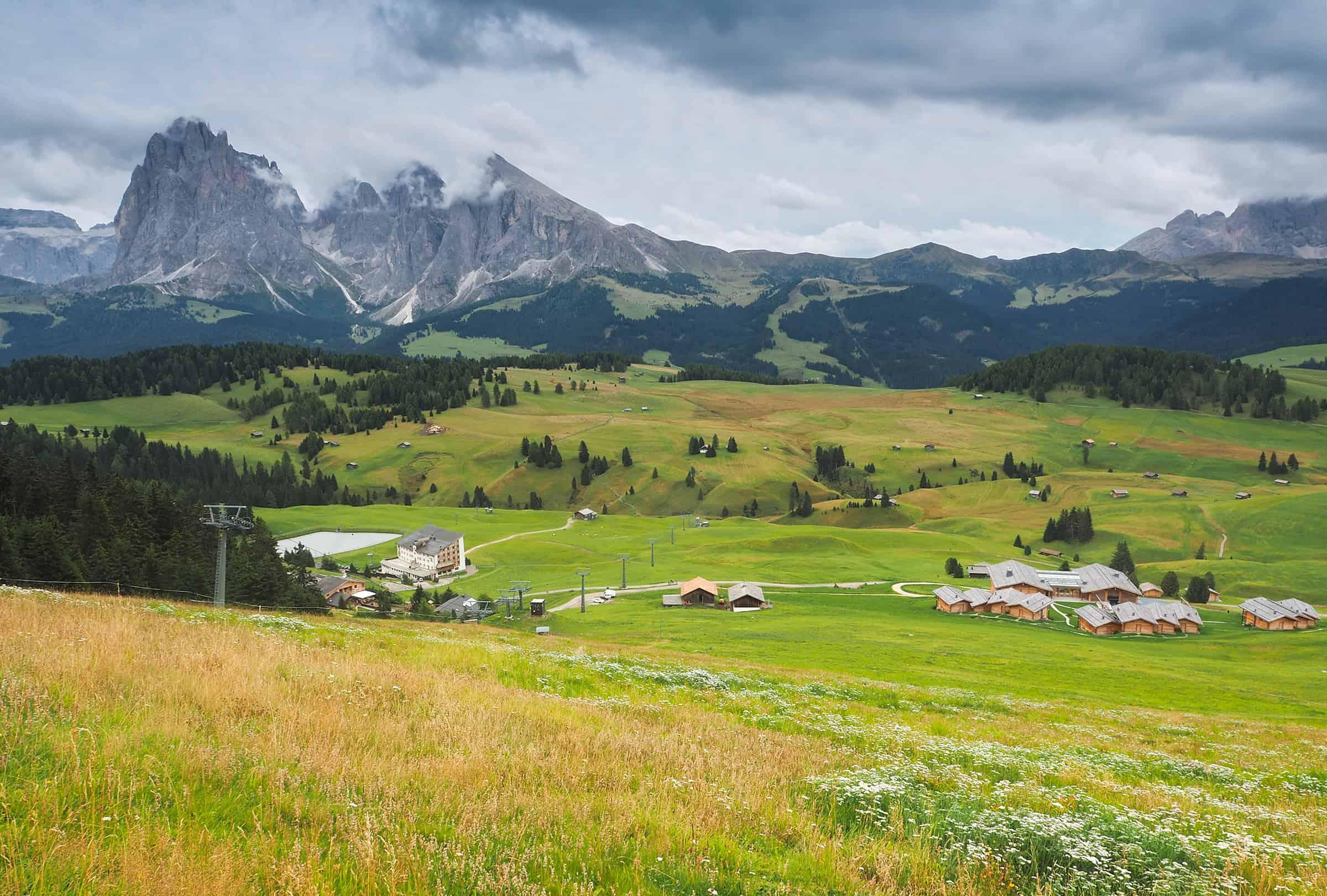 Uitzicht over Alpe de Siusi