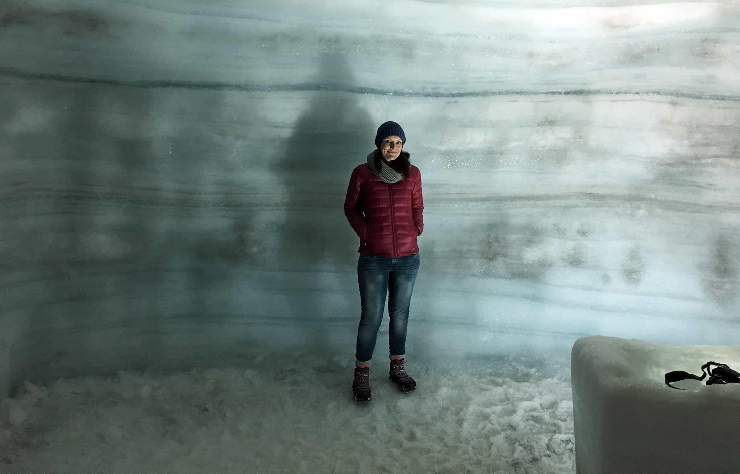 Even op de foto in de ijstunnel