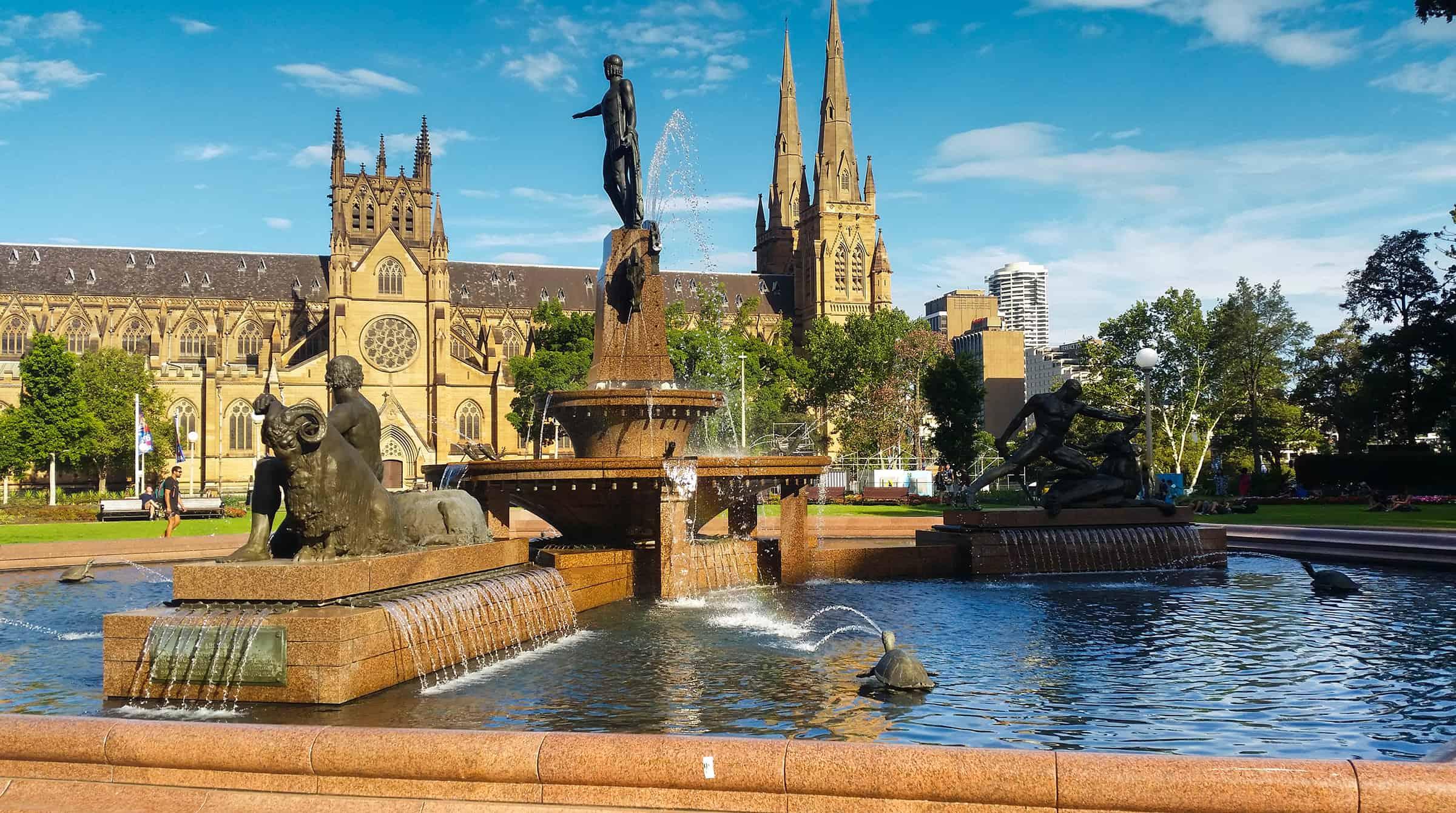 Mooi park in Sydney
