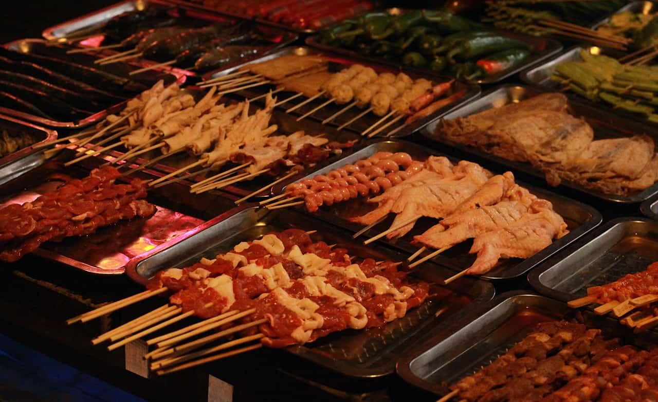 Vreemde Chinese gerechten