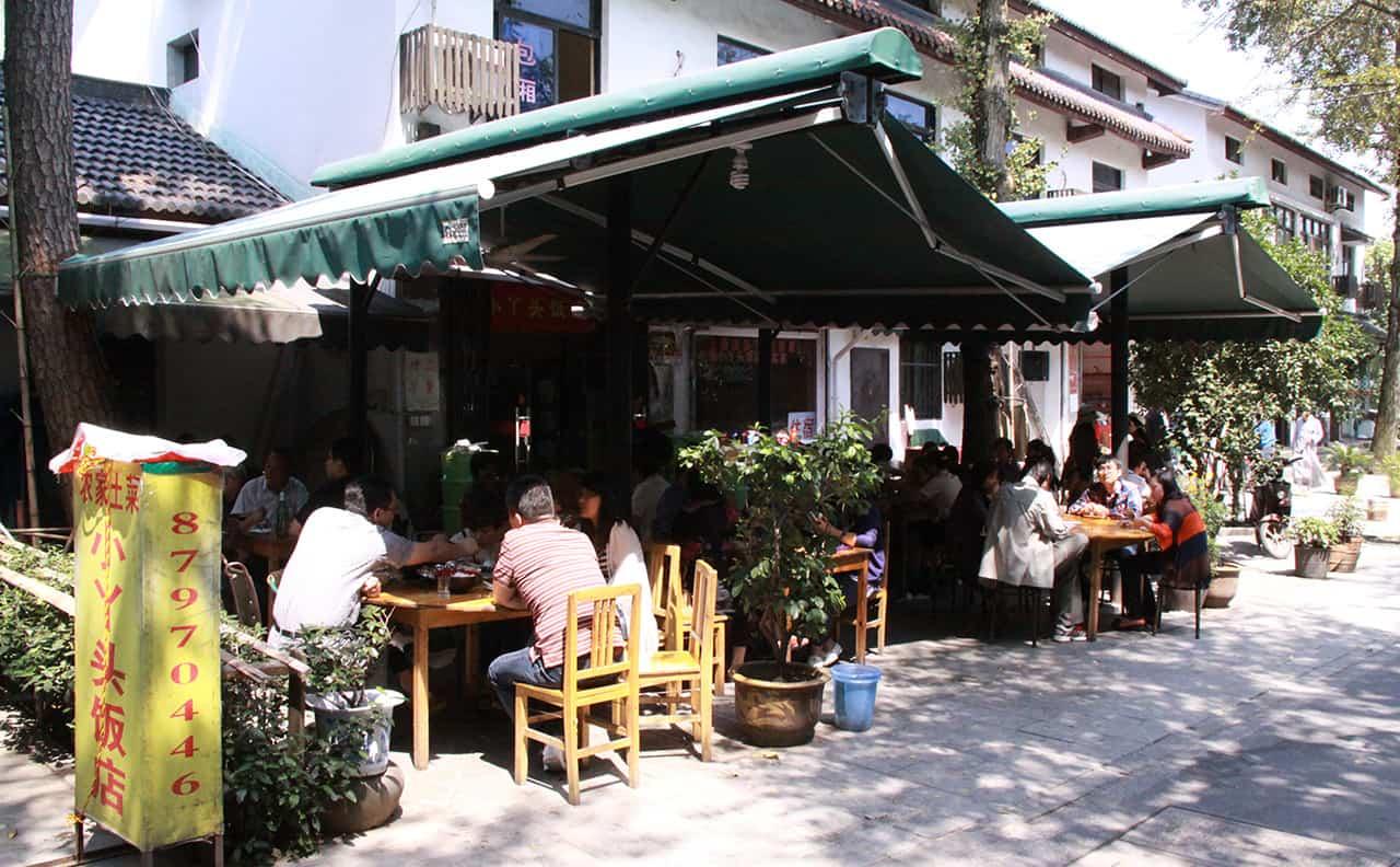 Restaurantjes in Hangzhou