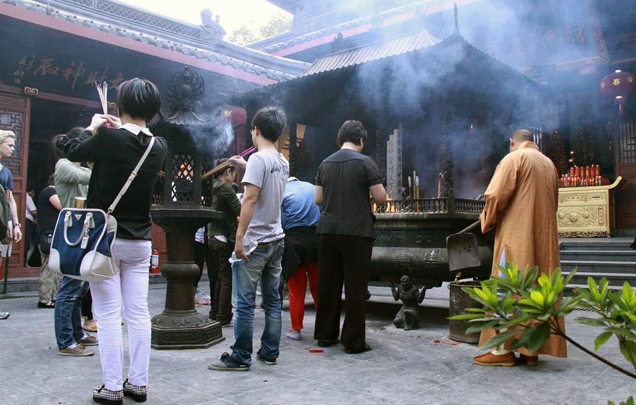 Tempel op de berg van Hangzhou