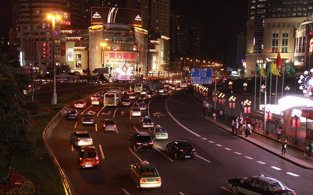 Centrum van Shanghai