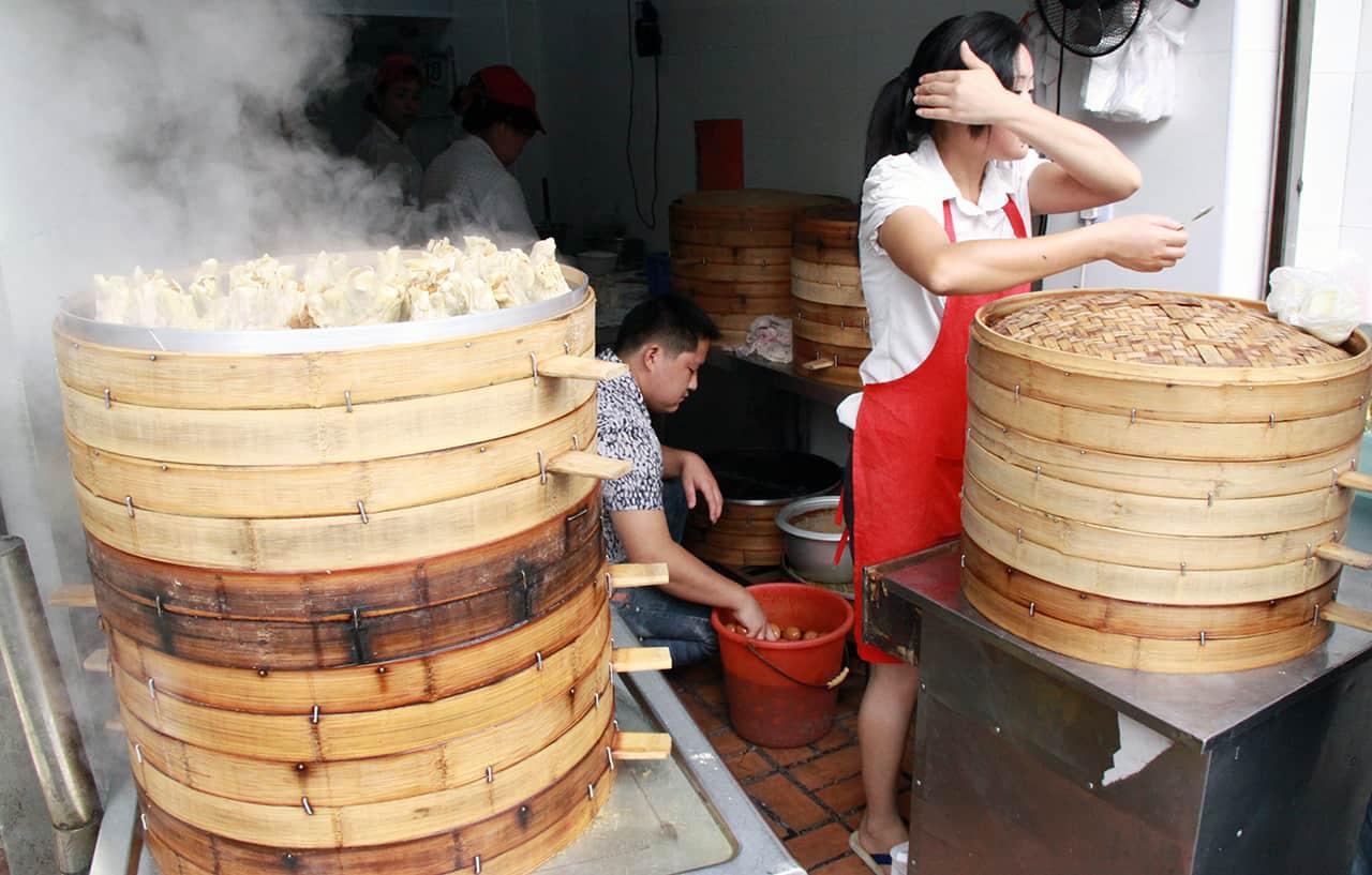 Eten langs de straat in Shanghai