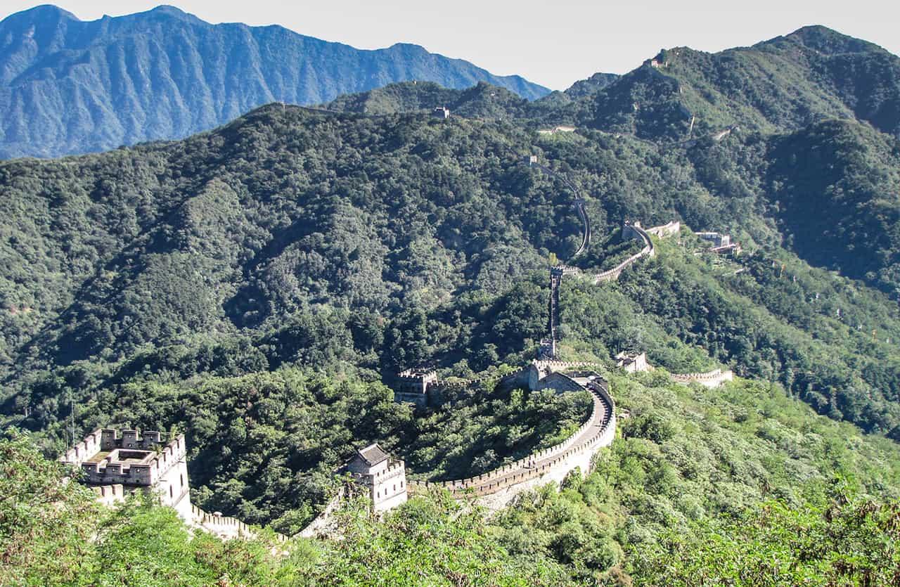 Beijing met de Verboden Stad en de Chinese Muur