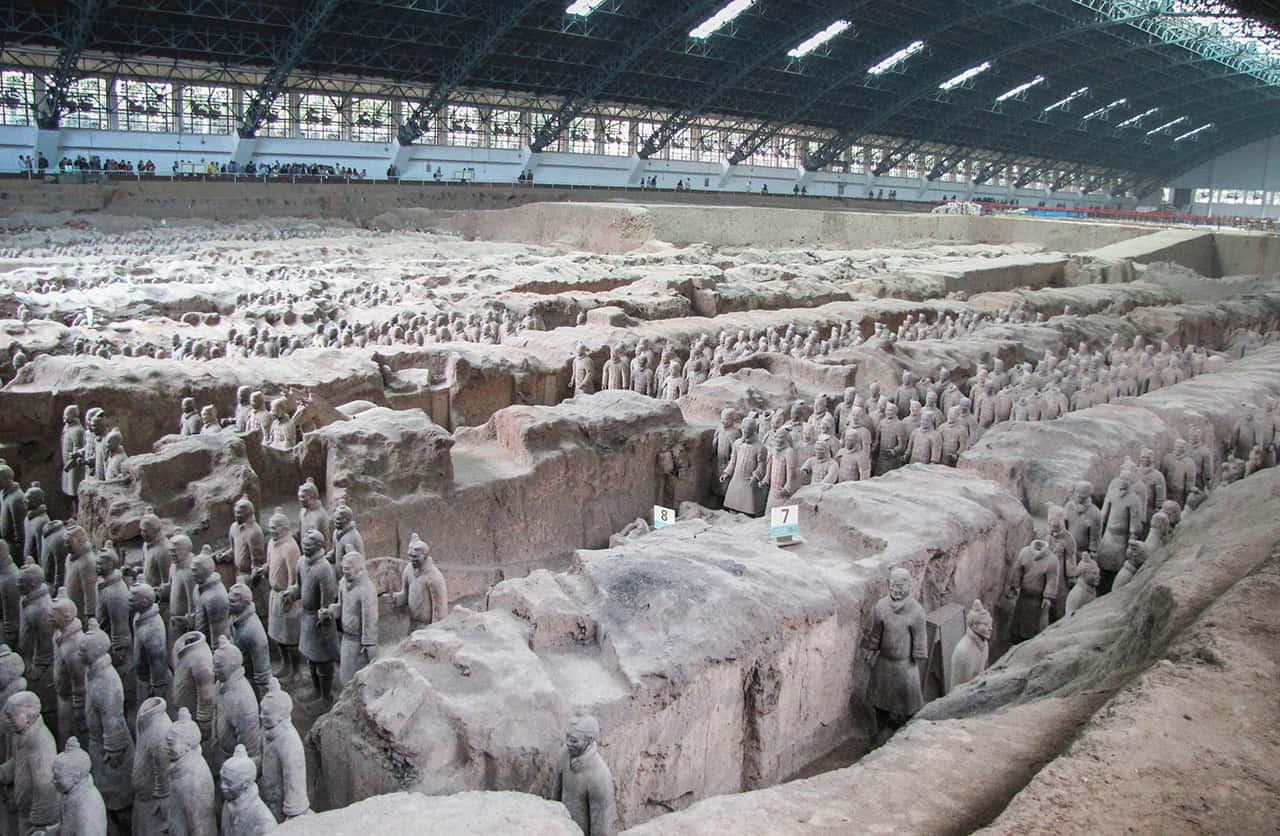 Terracottaleger bij Xi'an