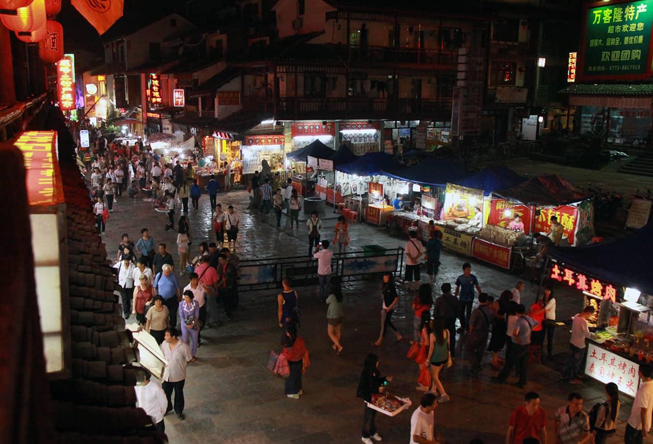 Yangshuo in de avond