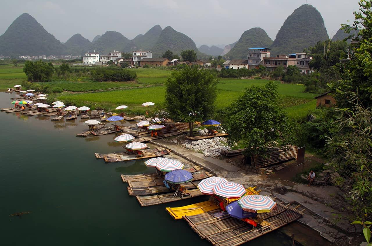 Riviertjes bij Yangshuo