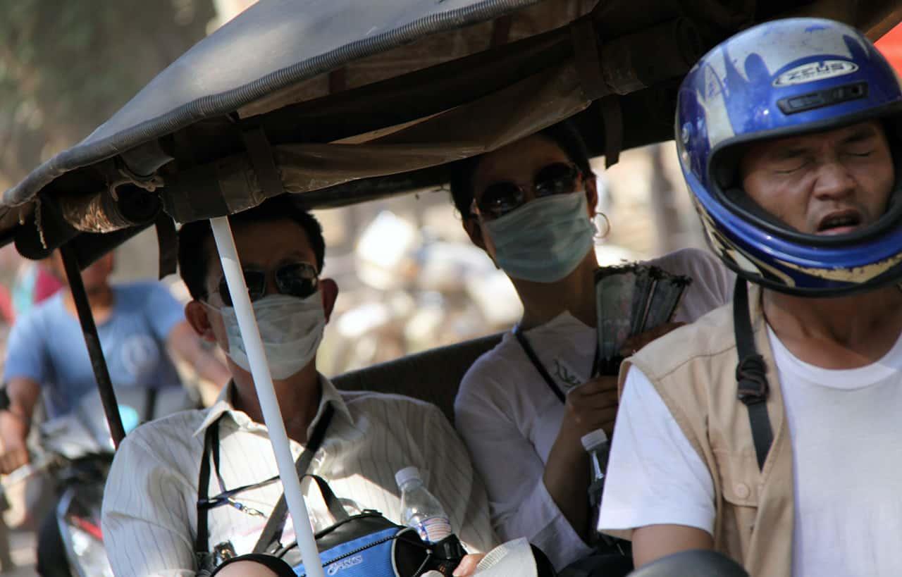 Mondkapje in Siem Reap