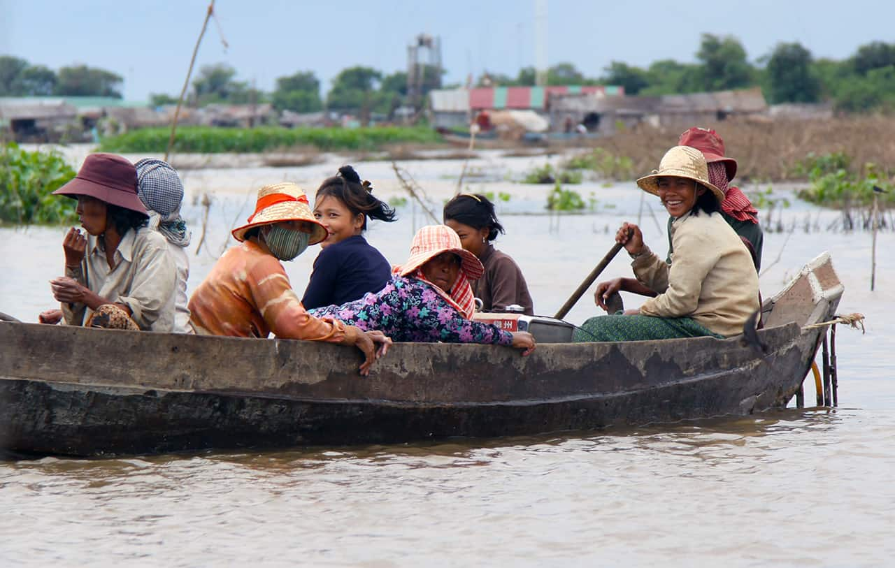 Tonle Sap en de waterdorpen