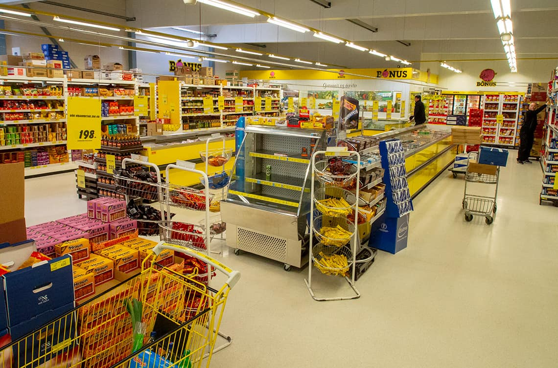 Supermarkt in IJsland