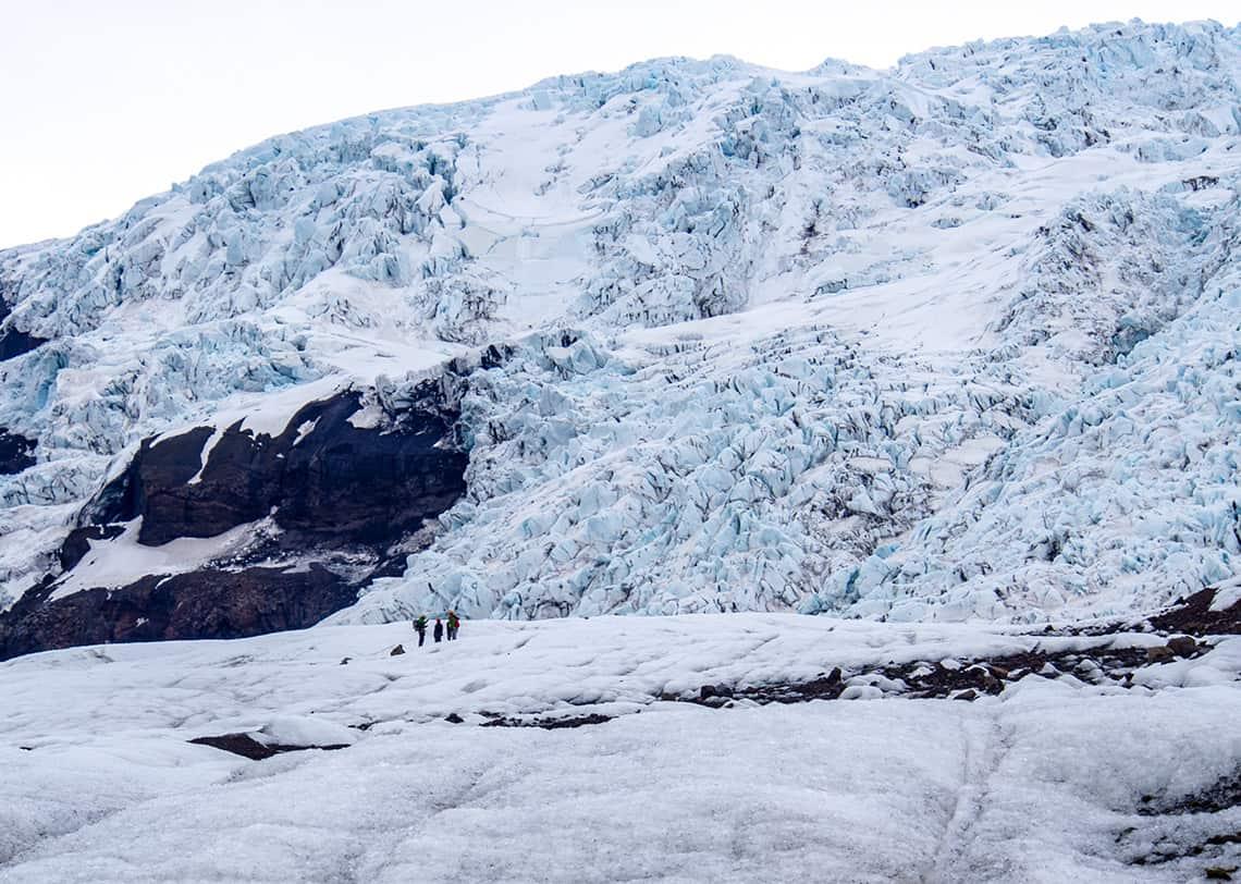 Vulkanen en gletsjers