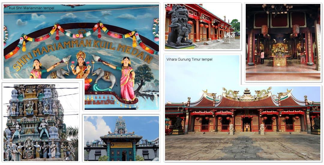 Kuil Shri Mariamman tempel en Vihara Gunung Timur tempel