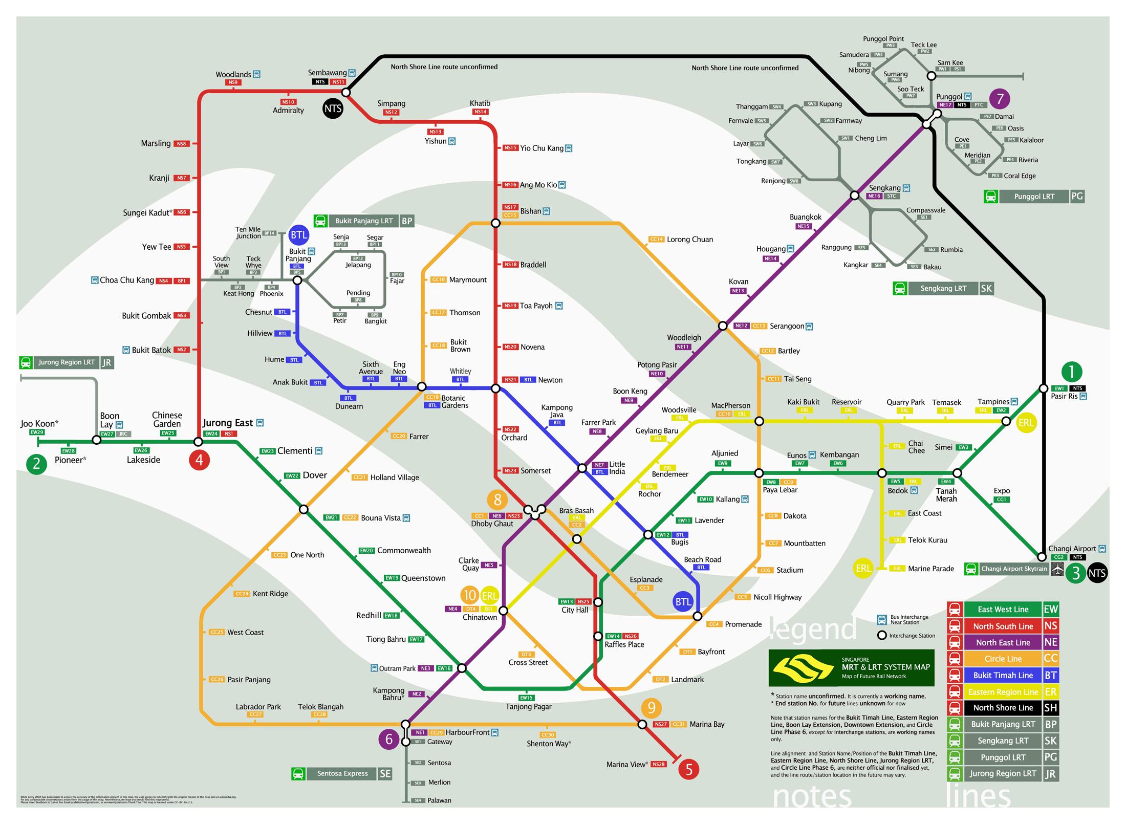 Kaart metro Singapore