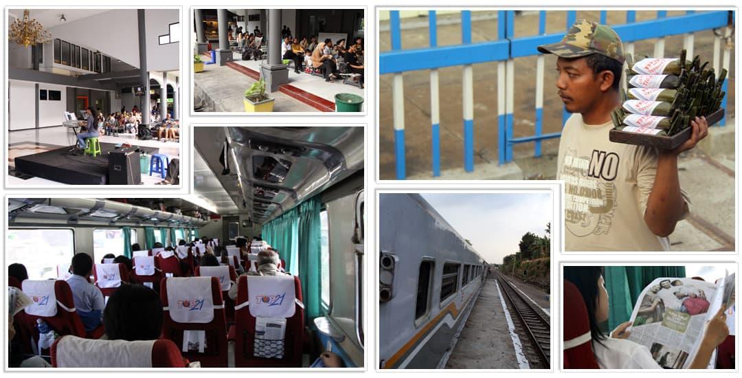 Reizen per trein door Java
