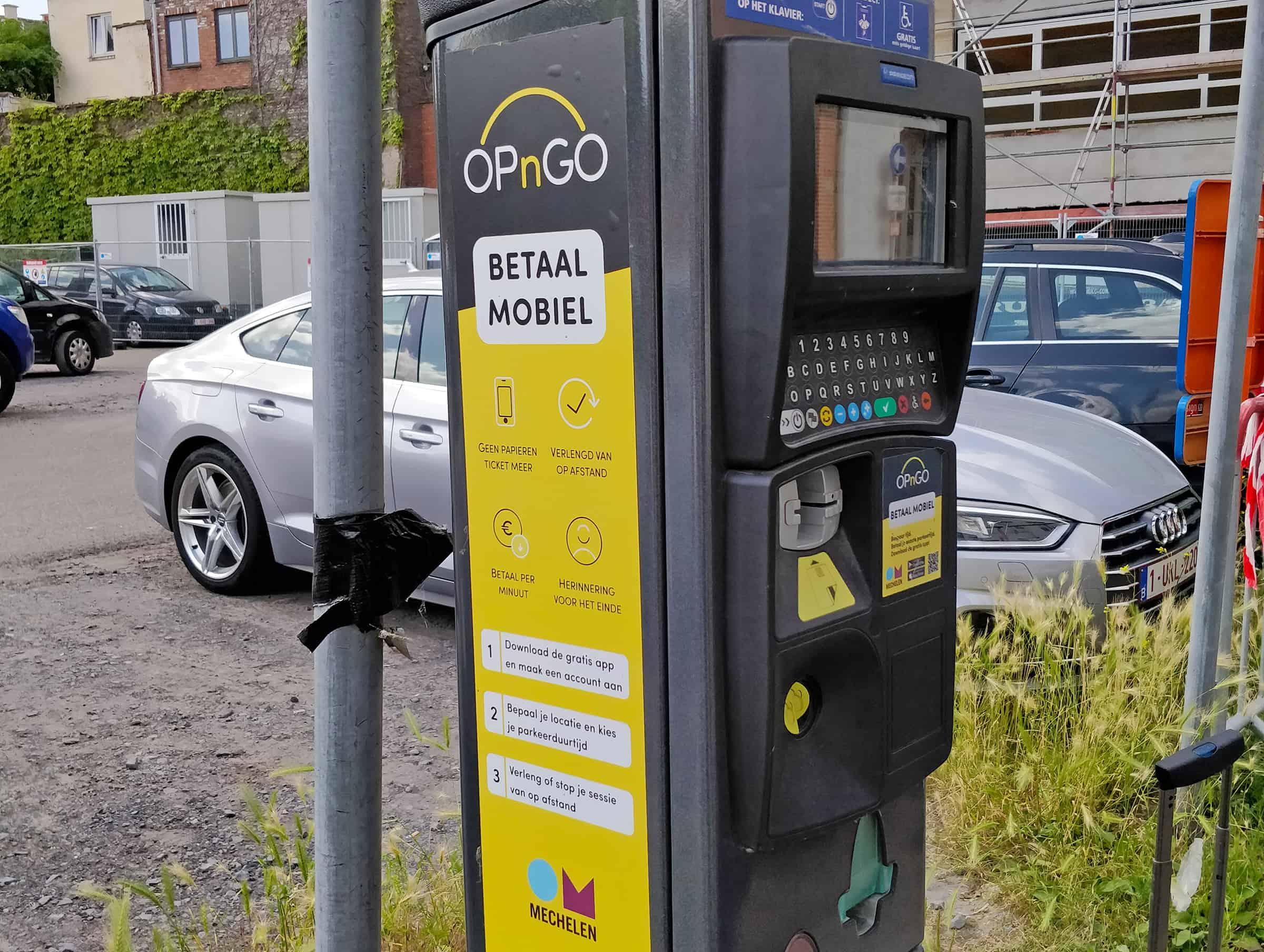 Parkeerautomaat in Mechelen
