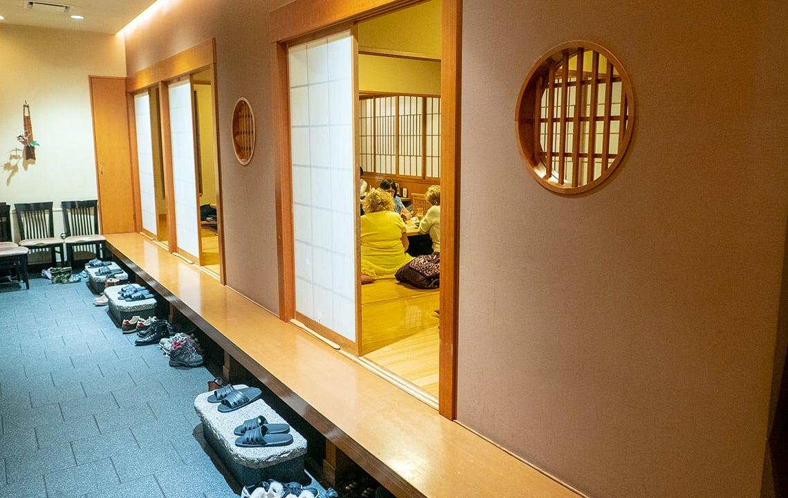 Hidagyu Maruaki in Takayama zitrestaurant