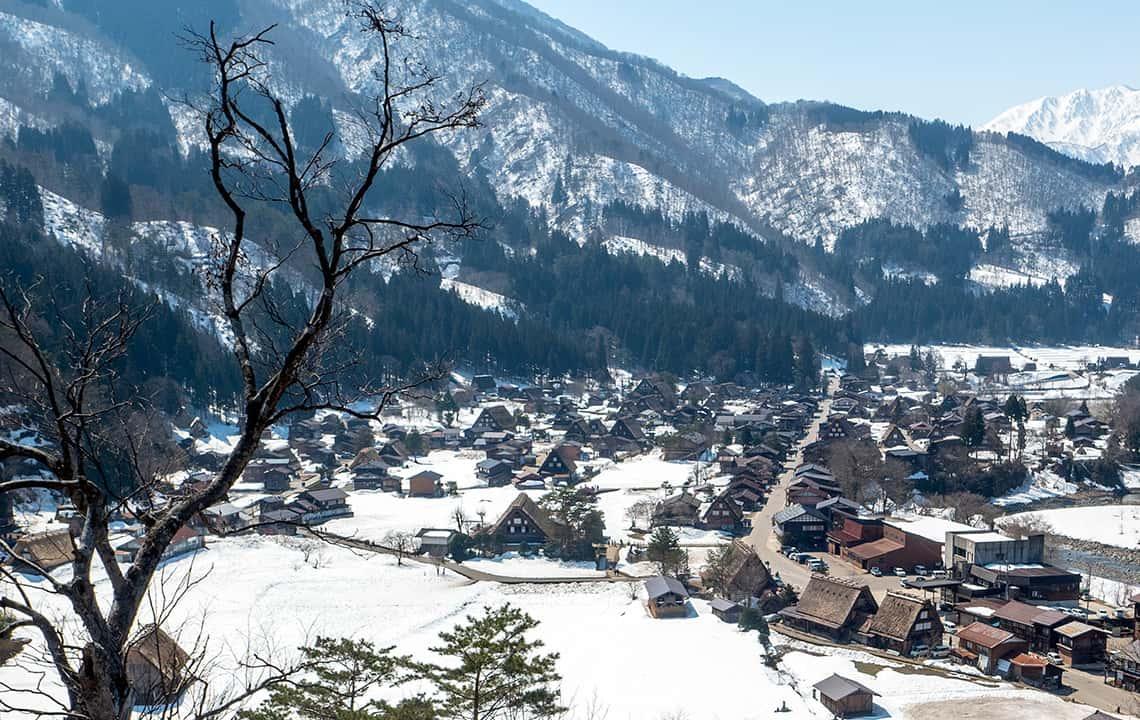 Uitkijkpunt Shirakawa-Go