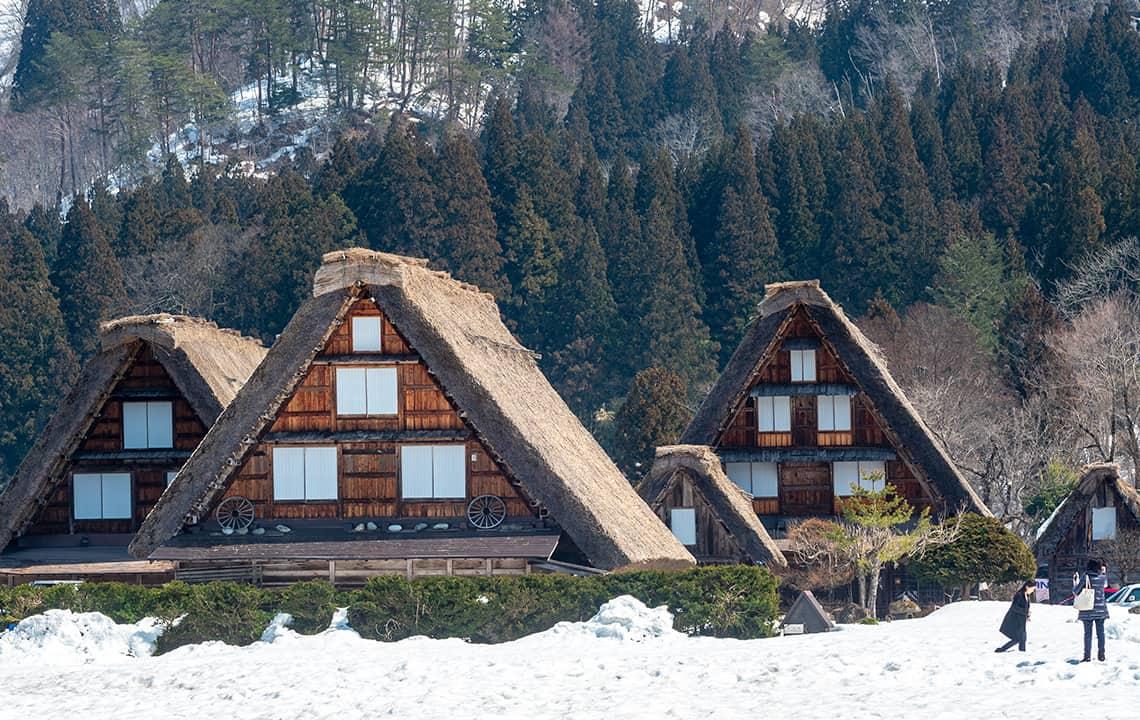 Drie gasshō-huizen