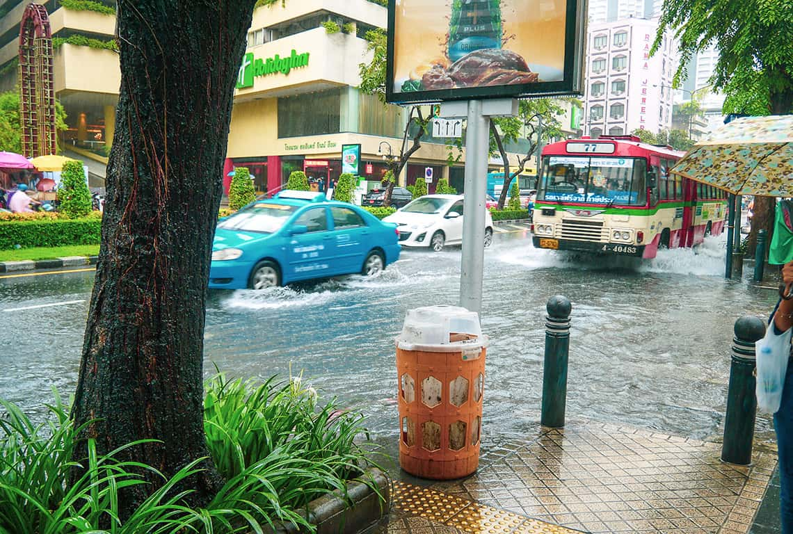 Overstroming centrum Bangkok
