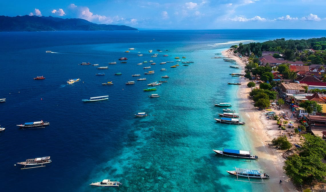 Gili bountyeilanden in Indonesië