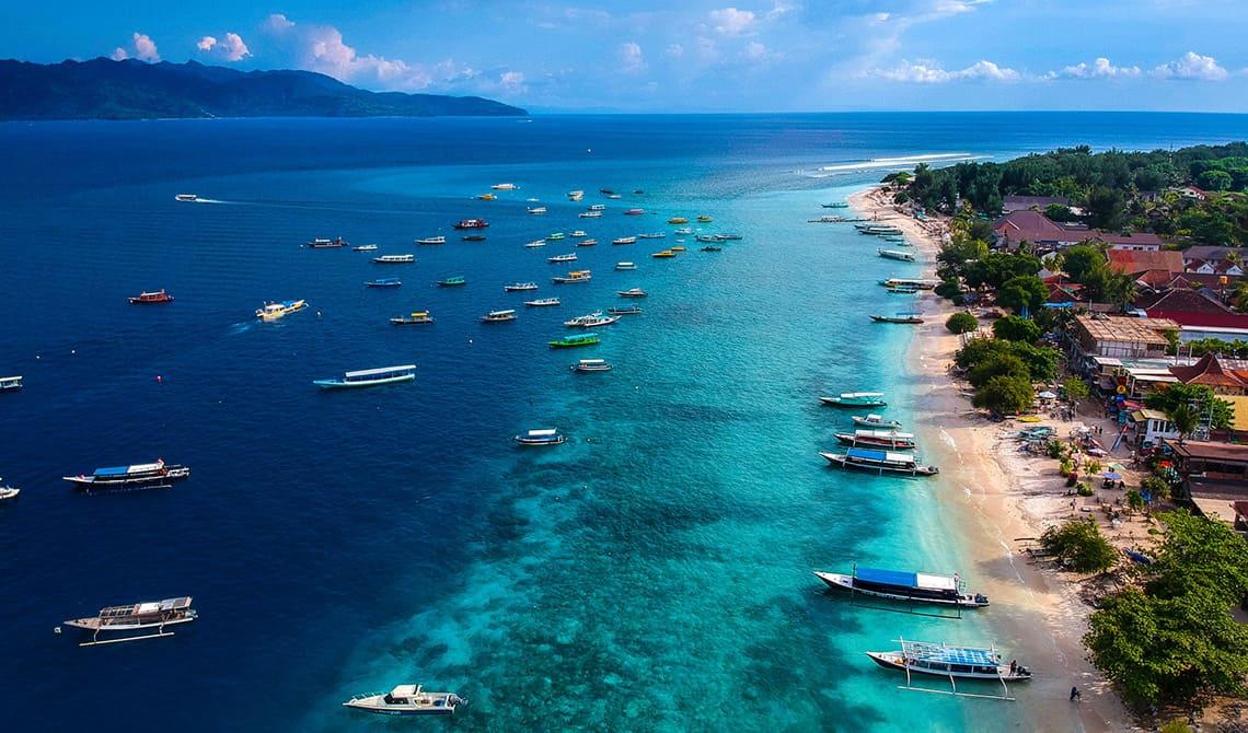 Gili bountyeilanden in Indonesië