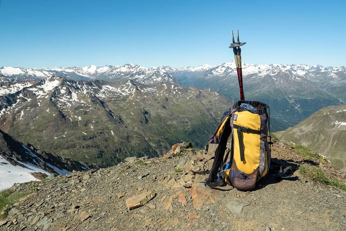 Backpack in de Oostenrijkse Alpen